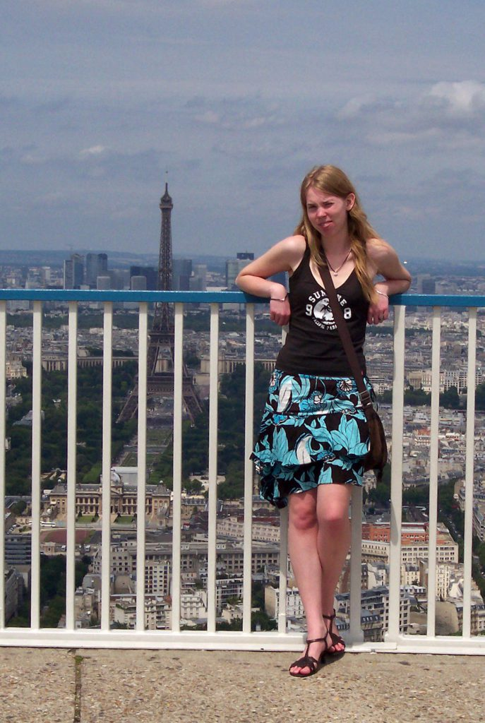 Debbie auf dem Tour Montparnasse