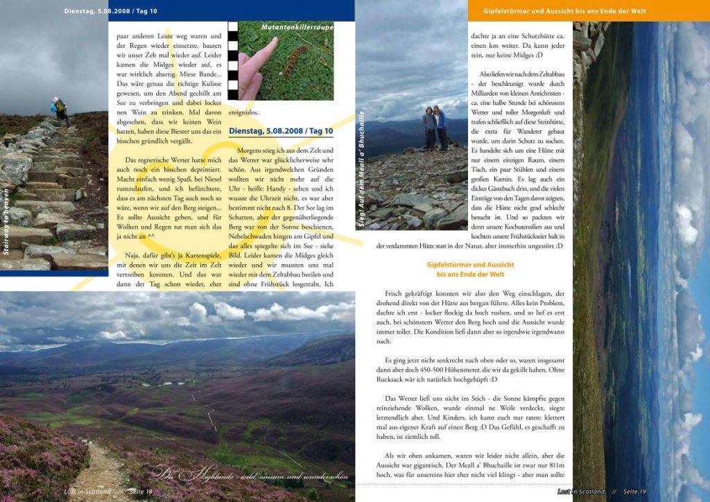 Schottland-Magazin Doppelseite