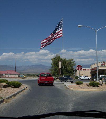 Riesige amerikanische Flagge