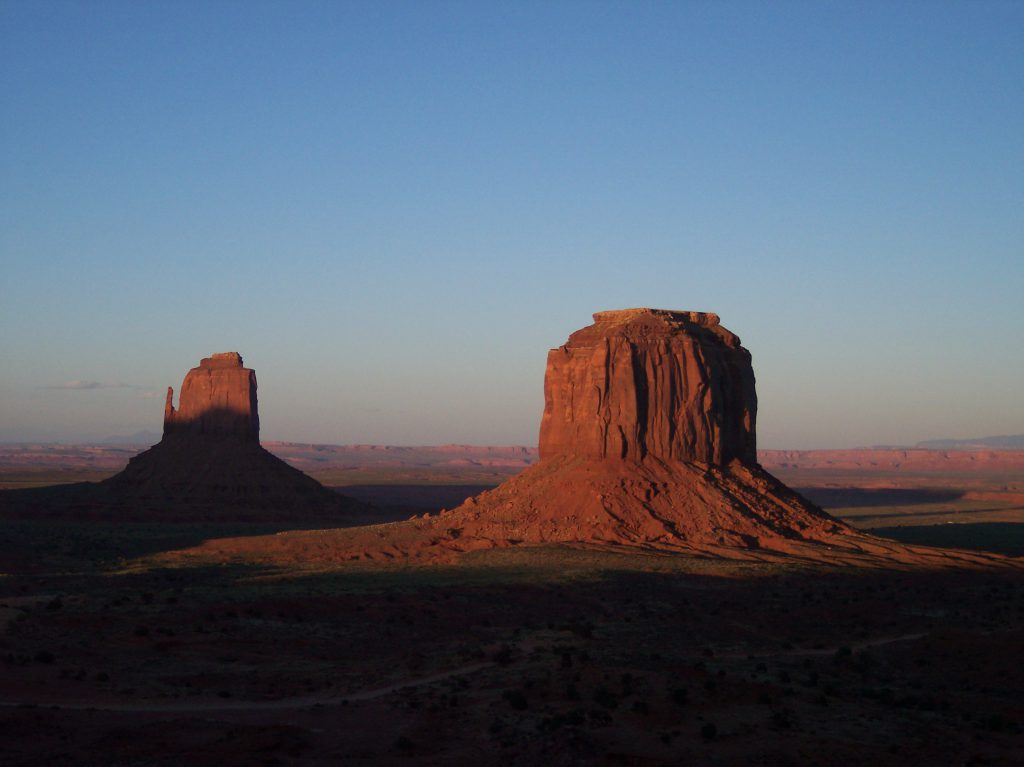 Monument Valley im Sonnenuntergang