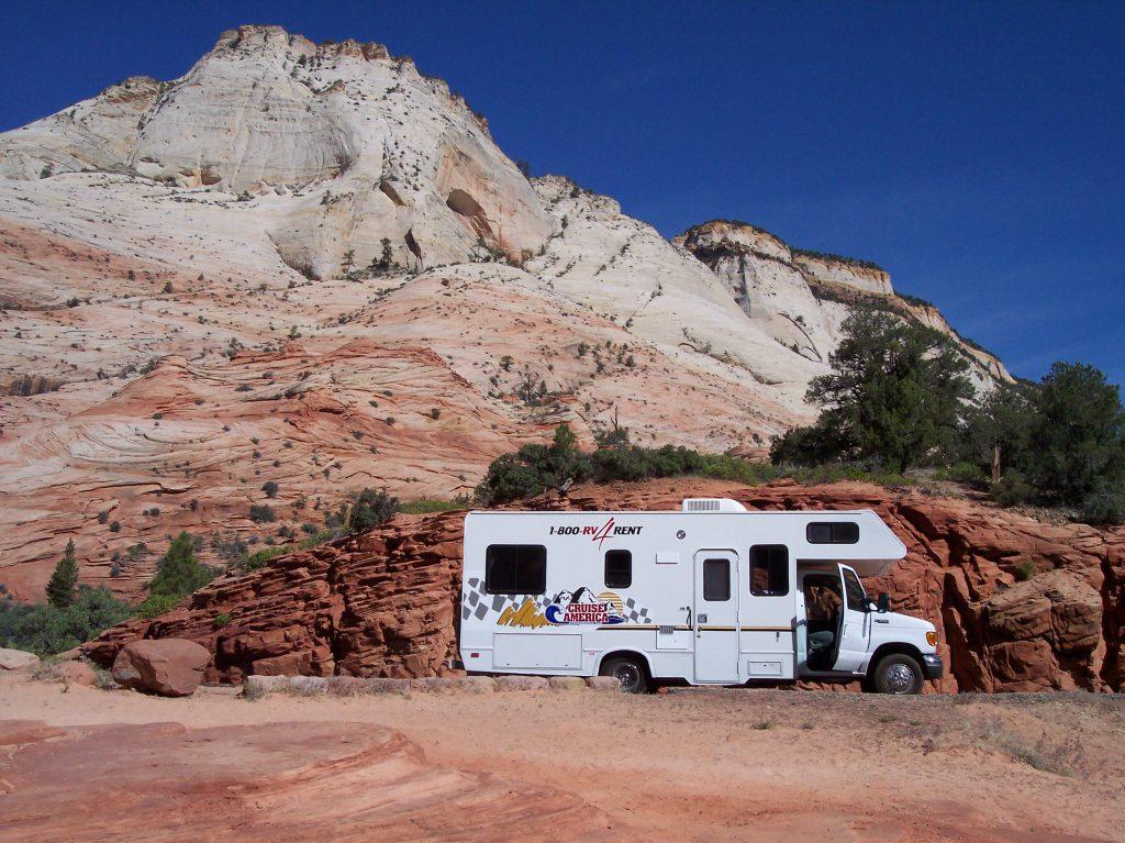 Wohnmobil im Zion National Park