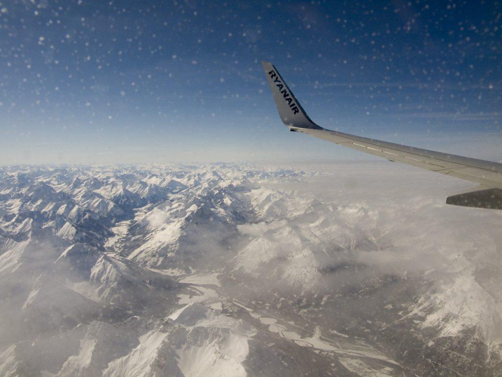 Nordseite der Alpen: gleich wieder Wolken -.-