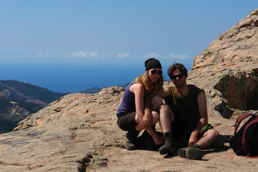 Debbie und Pierre auf dem Gipfel