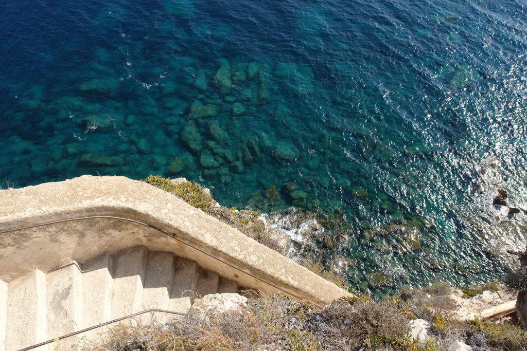 Treppe bei Bonifacio