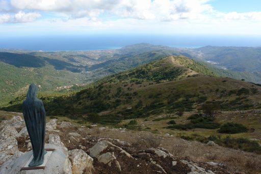 Blick vom Pizzo d'Evigno nach Süden Richtung Imperia