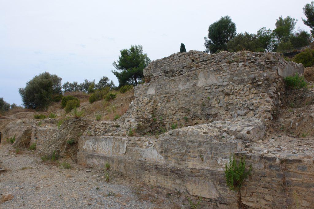 Reste der Nekropole an der Via Iulia Augusta bei Albenga