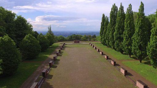 Heidelberger Ehrenfriedhof aus Blick einer Drohne