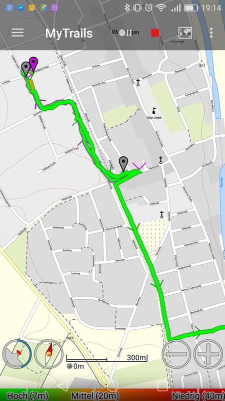 [Android-App] Mit MyTrails GPS-Tracks aufzeichnen