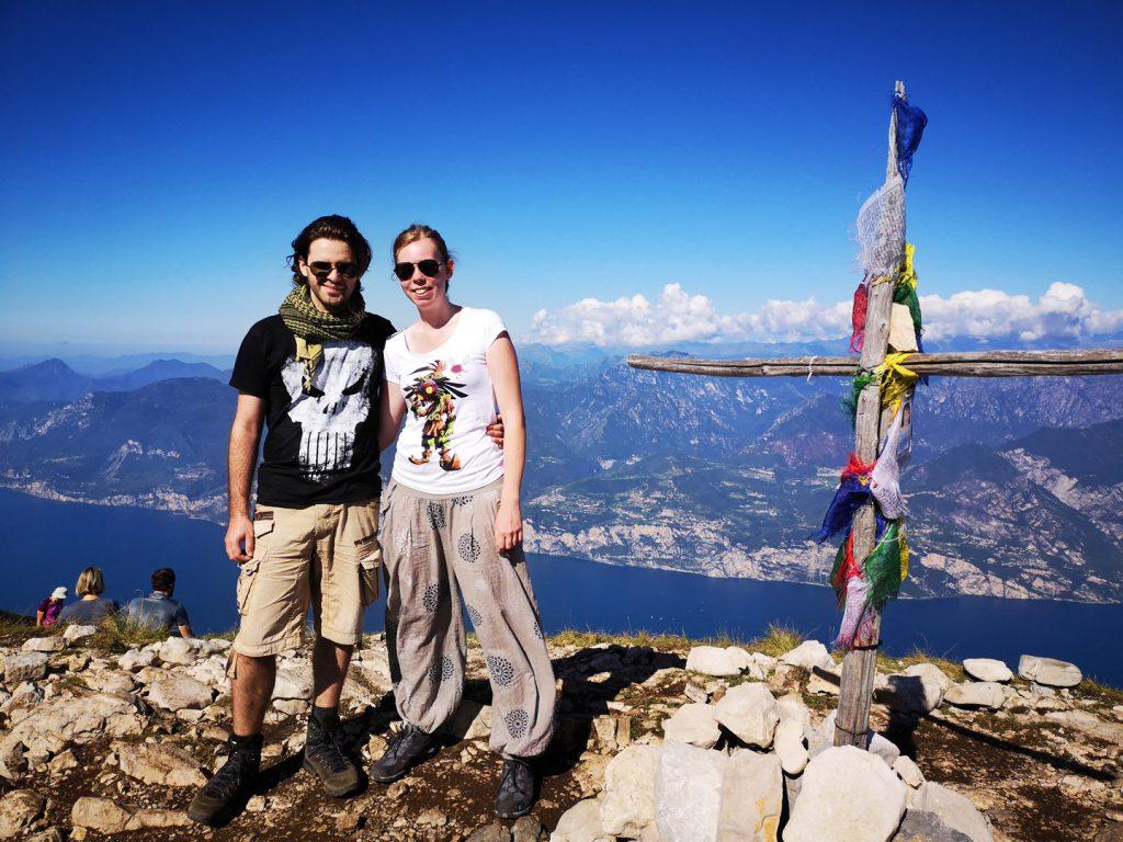 Gipfelfoto auf dem Monte Baldo