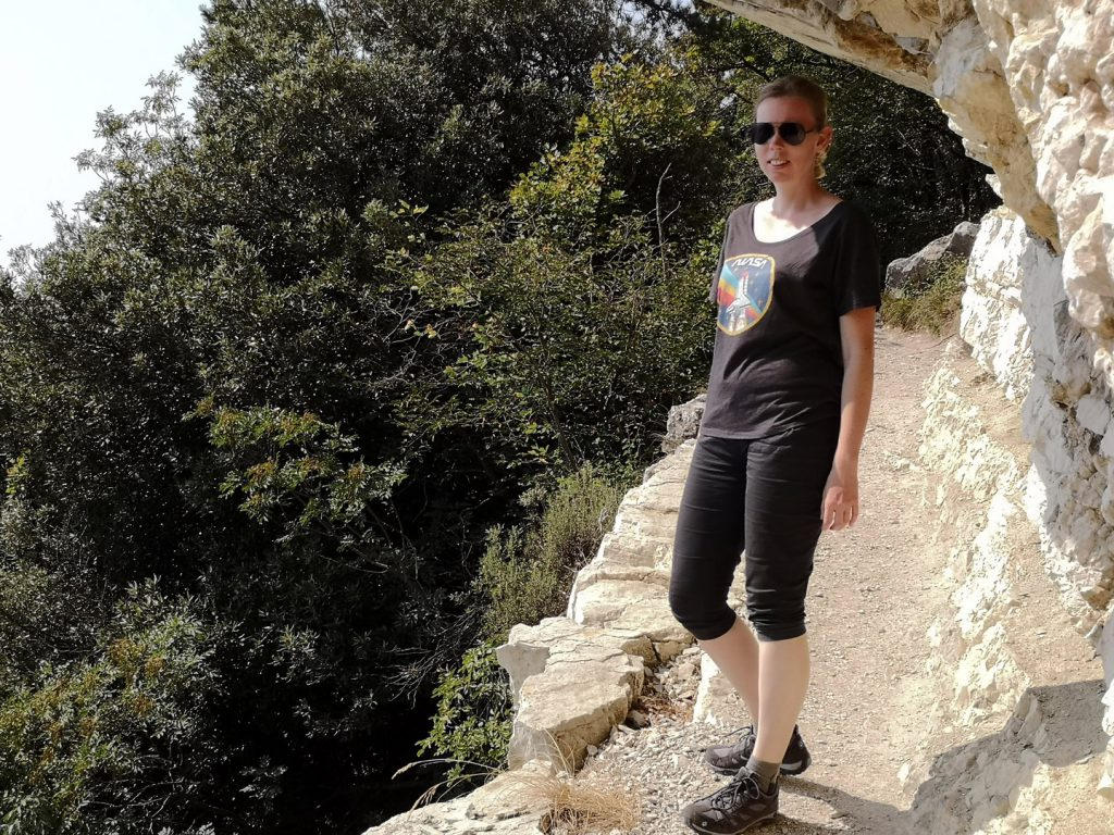 Debbie beim Wandern
