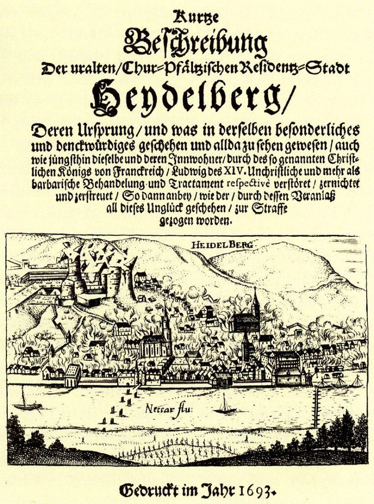 Flugblatt Heidelberg 1693