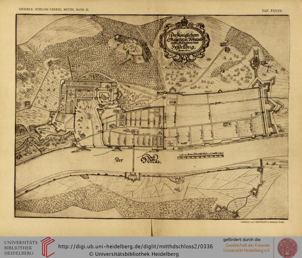 Heidelberger Stadtgrundriss 1622