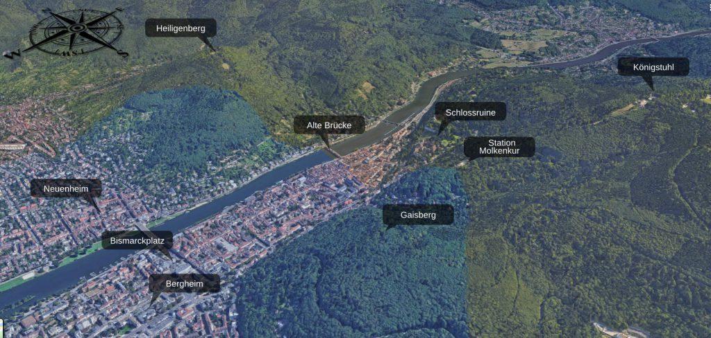 Heidelberg aus der Vogelperspektive