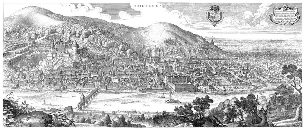 Merian-Panorama von Heidelberg