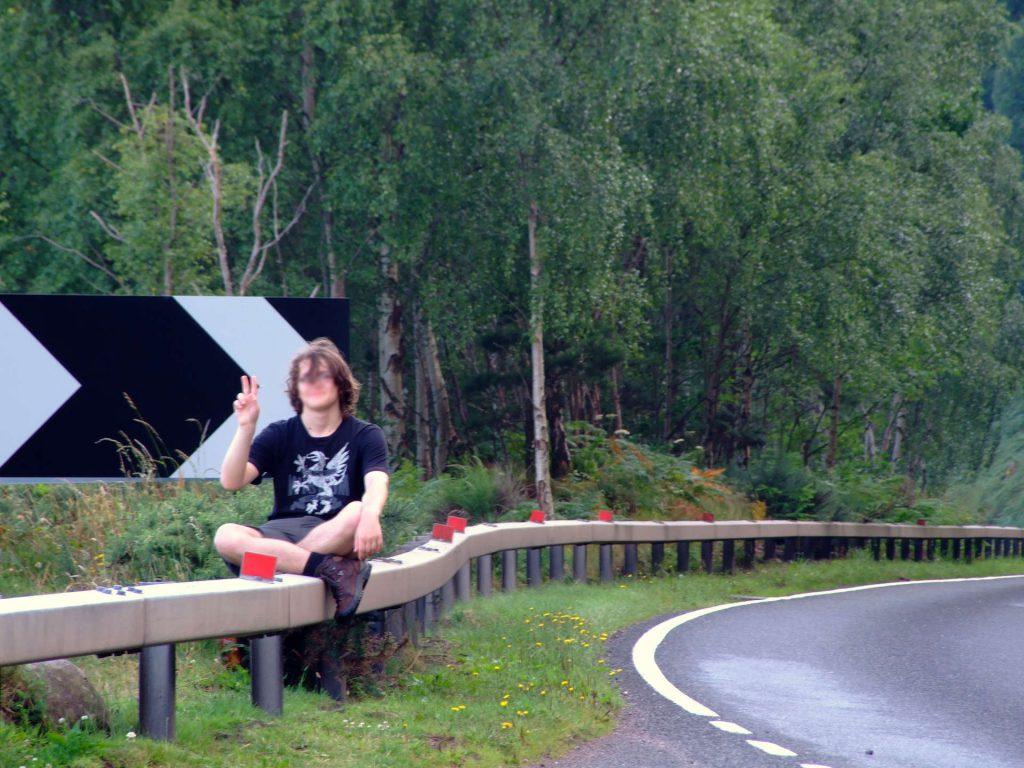 Rasten an der A82 bei Loch Ness