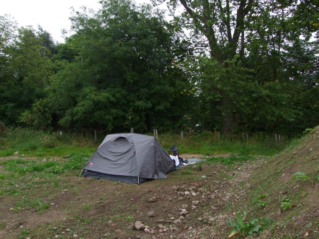 Zeltplatz der ersten Nacht