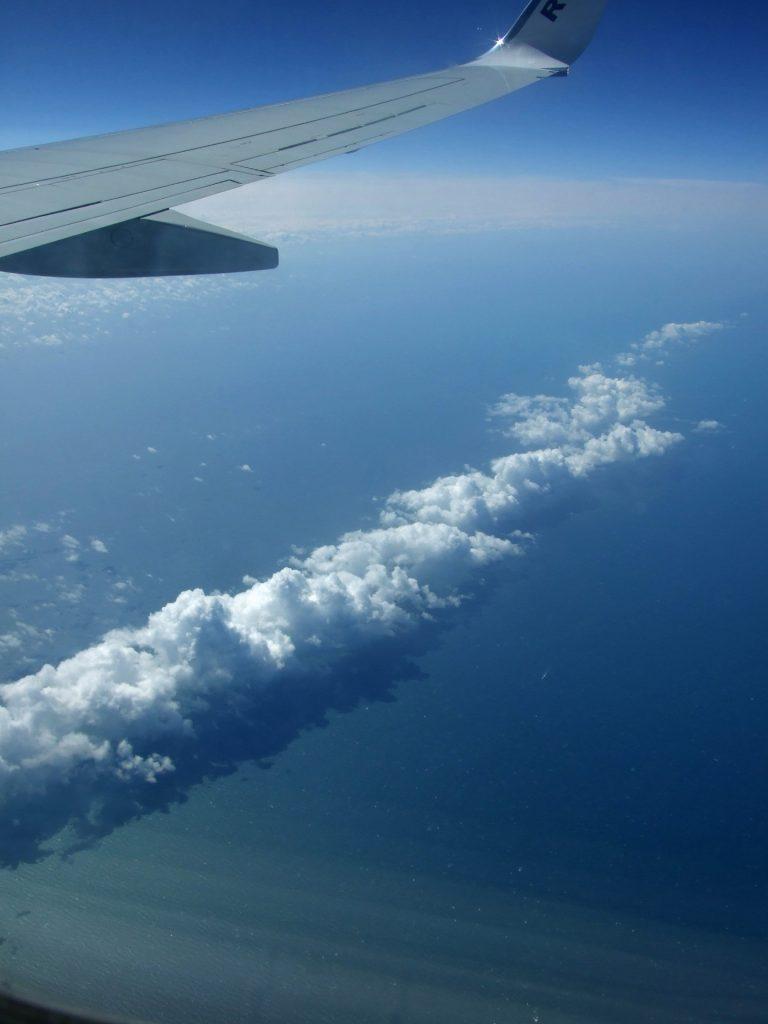 Flug über den Ärmelkanal