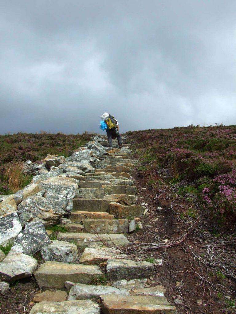 Treppe zum Gipfel