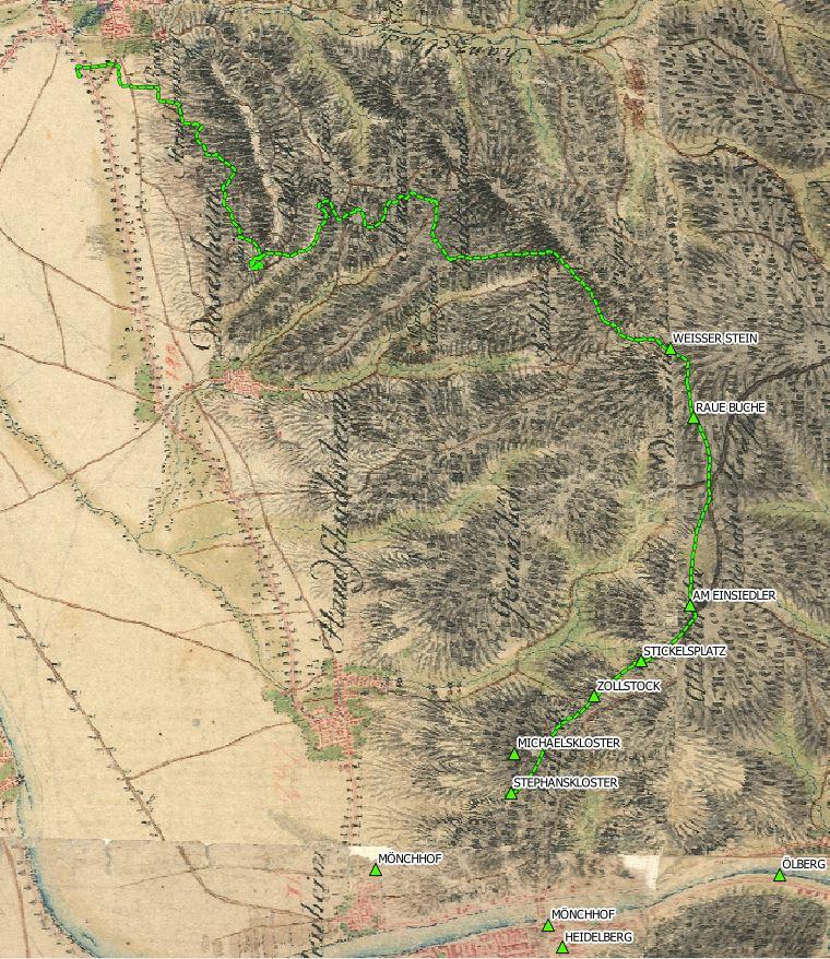 Wanderung auf der Schmitt'schen Karte