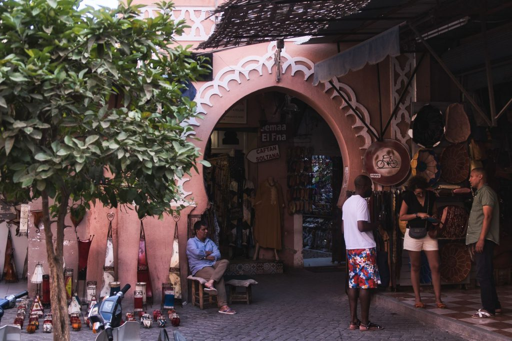 Eingang zu den Souks in Marrakesch