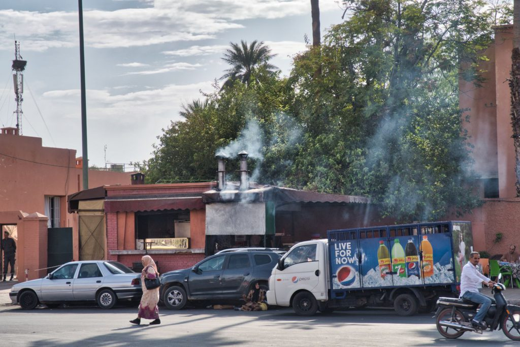 Straßenbild in Marrakesch