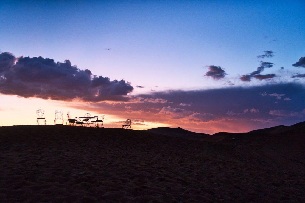 Sonnenaufgang in der Wüste von Merzouga
