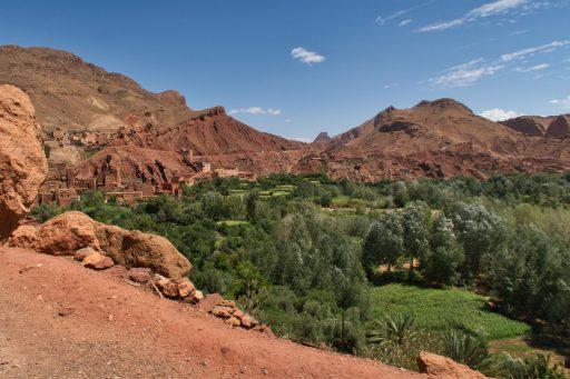 Grüne Oase im bemerkenswerten Dades-Tal