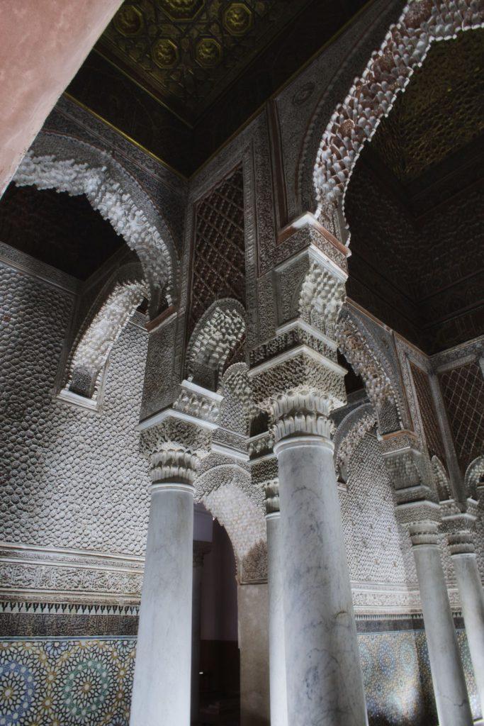 In einer der Hallen der Saadier-Gräber