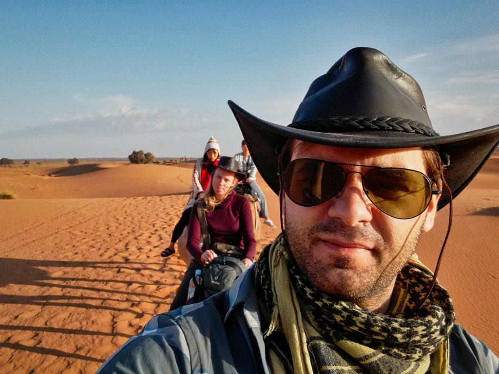Abschied vom Wüstencamp in Merzouga