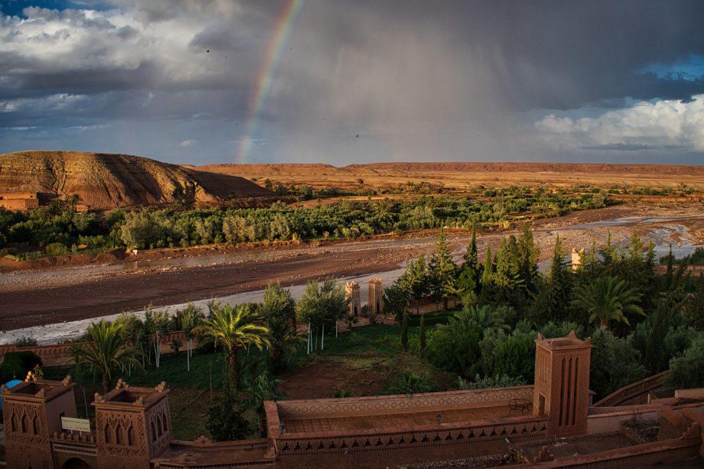 Regenbogen bei Ait Ben Haddou