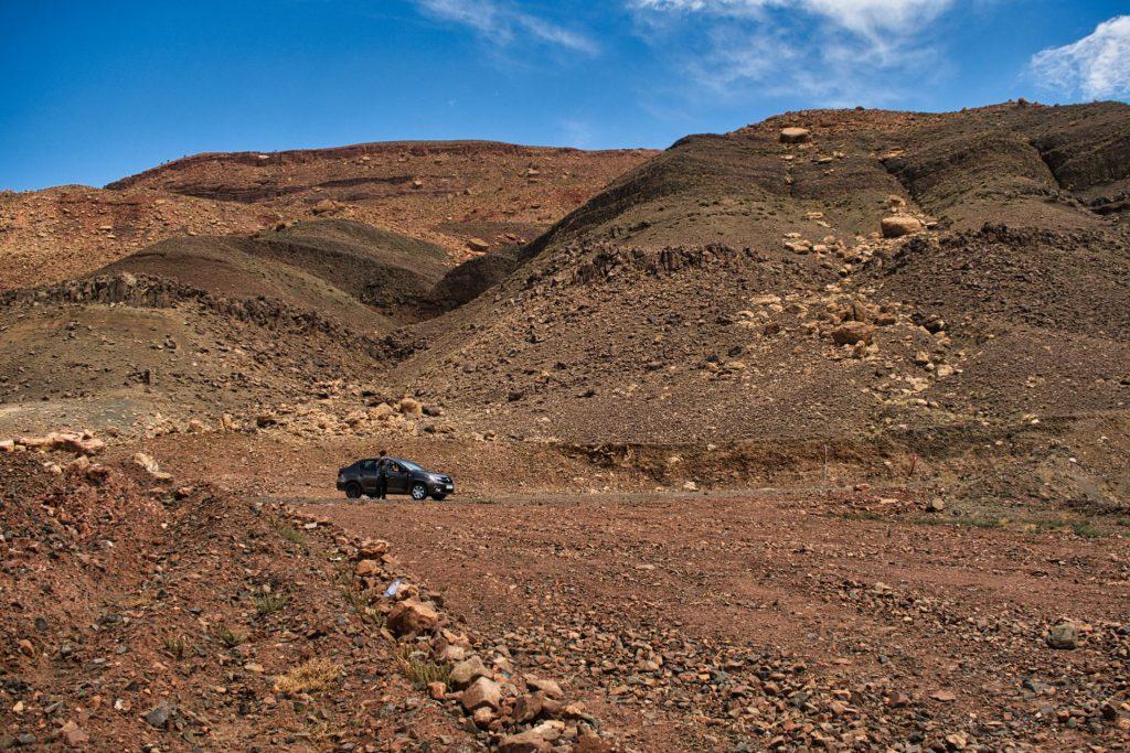 Straße durch den Hohen Atlas