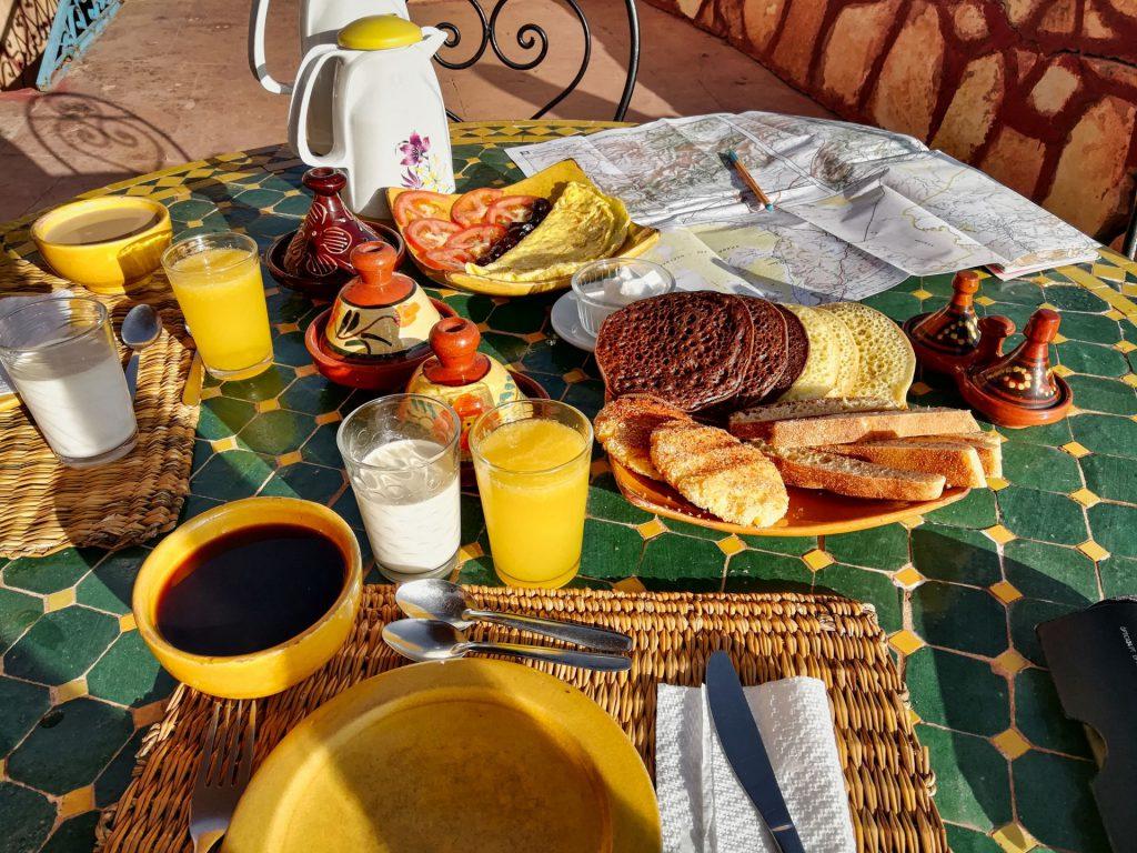 Frühstück im Hotel Dar Mouna