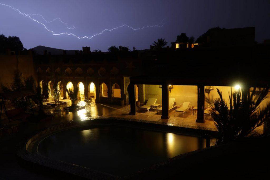 Blitz über Kasbah Mohayut
