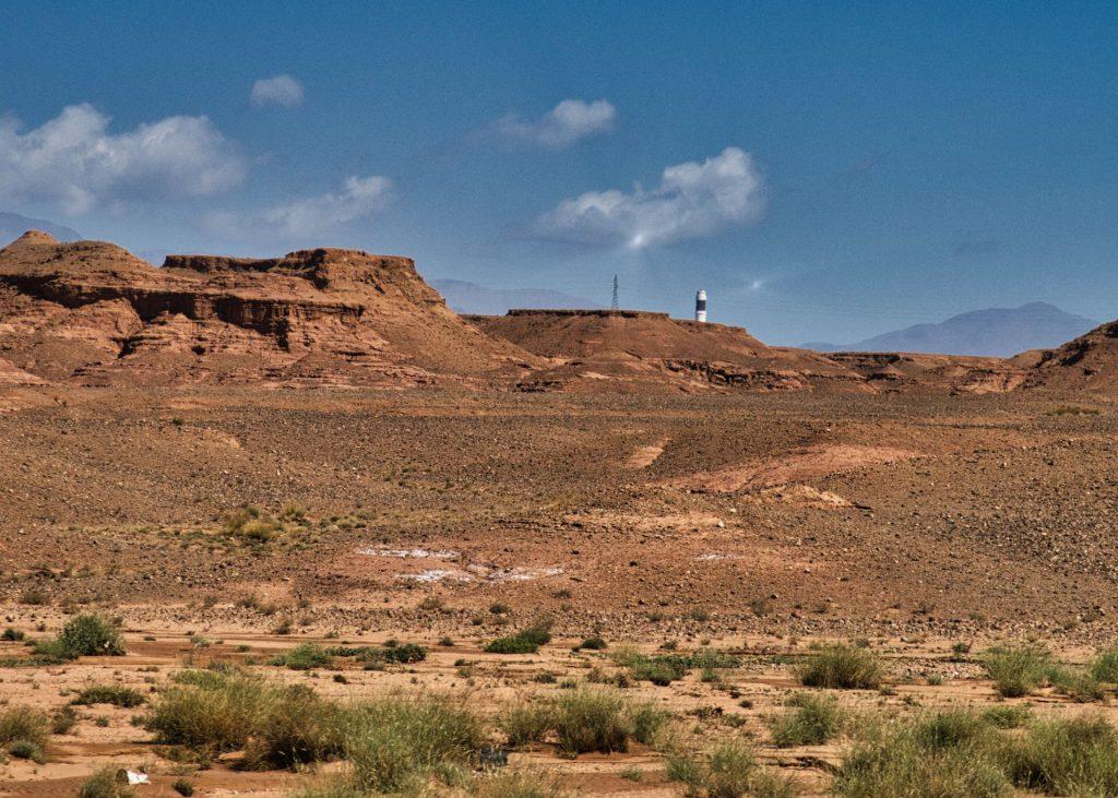 Ouarzazate Solarkraftwerk-Reflexionen