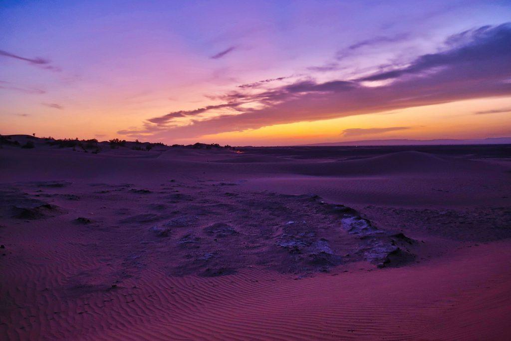 Violetter Sonnenuntergang